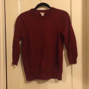 JCrew Burgundy Everyday Sweater